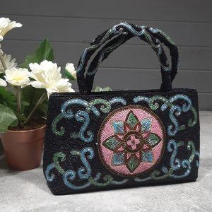 Handcrafted Glass Bead Handbag